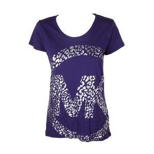 Michael Michael Kors Iris Purple Leo T-Shirt
